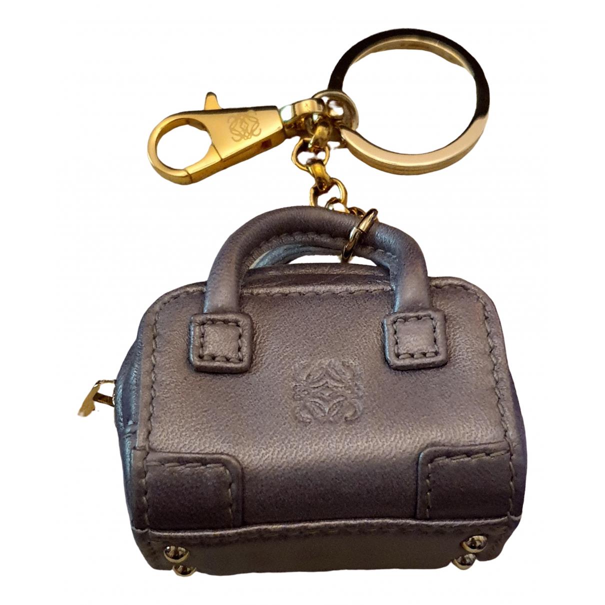 Loewe - Bijoux de sac   pour femme en cuir - metallise