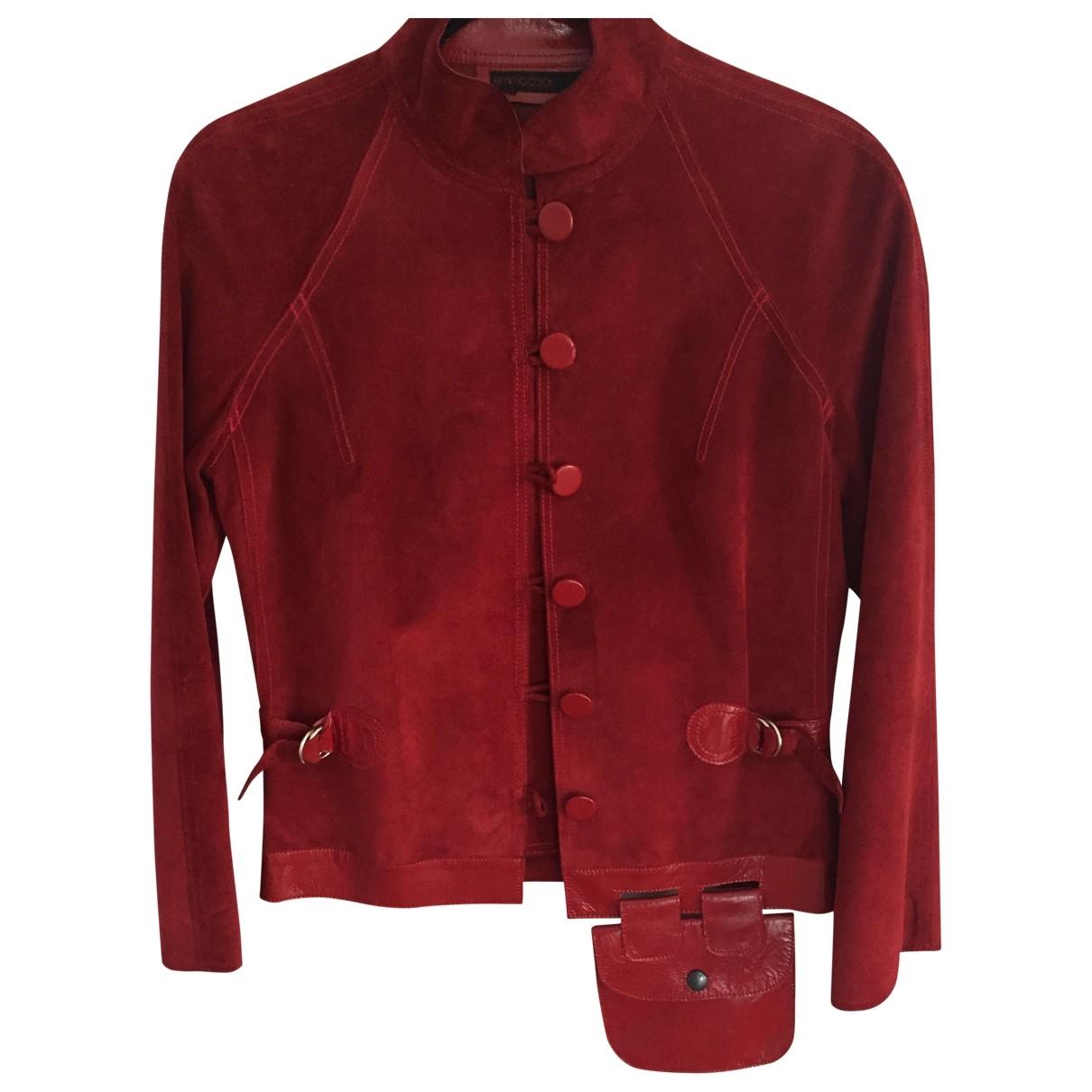 Emma Cook \N Red Suede jacket for Women 10 UK