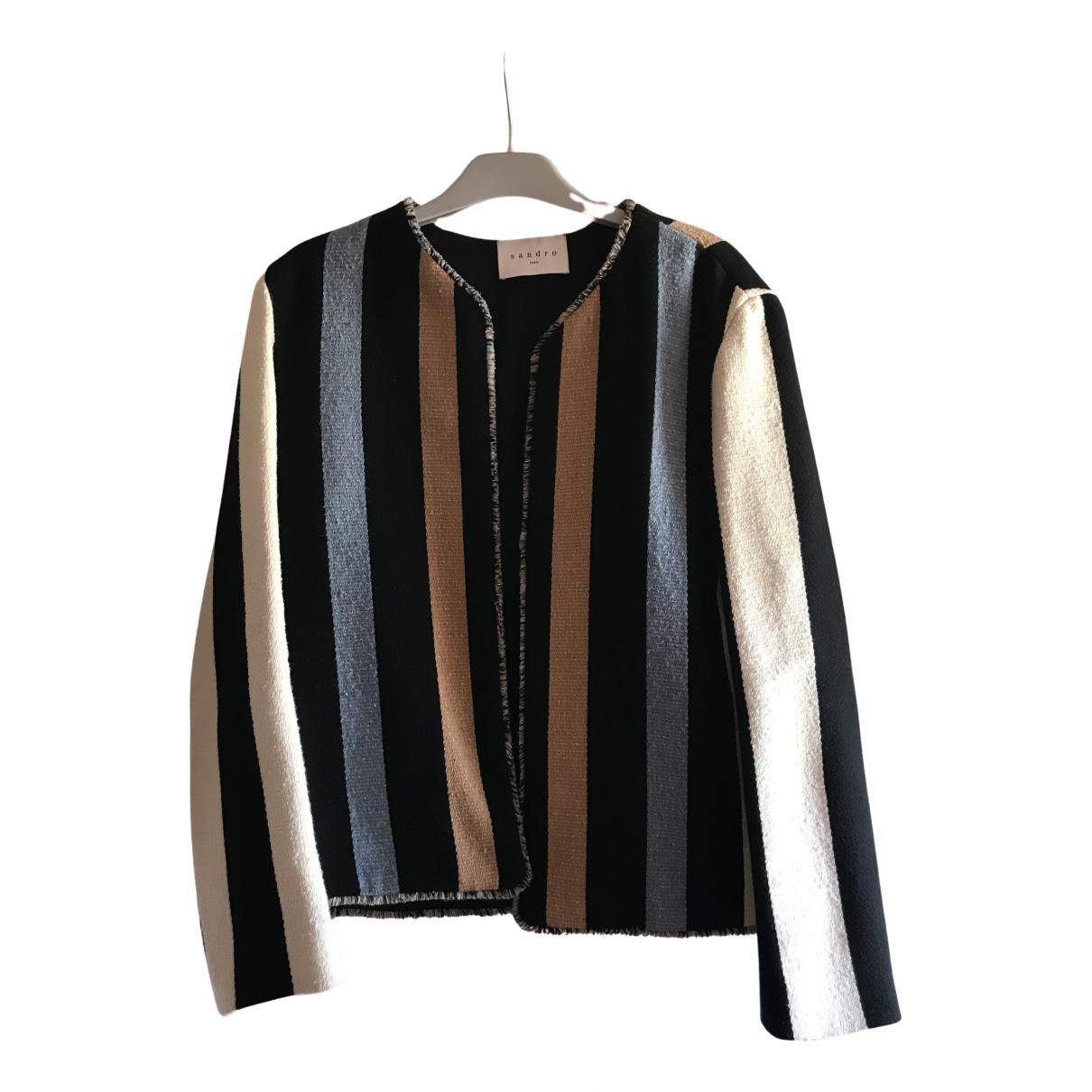 Sandro N Multicolour Cotton jacket for Women 40 FR