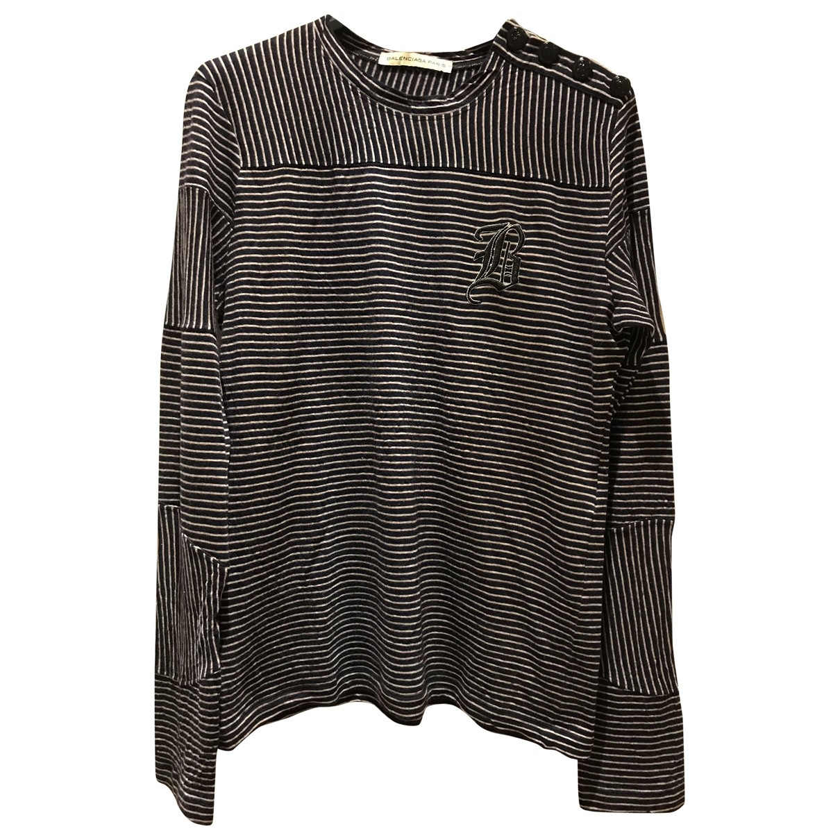 Balenciaga \N Pullover.Westen.Sweatshirts  in  Marine Wolle
