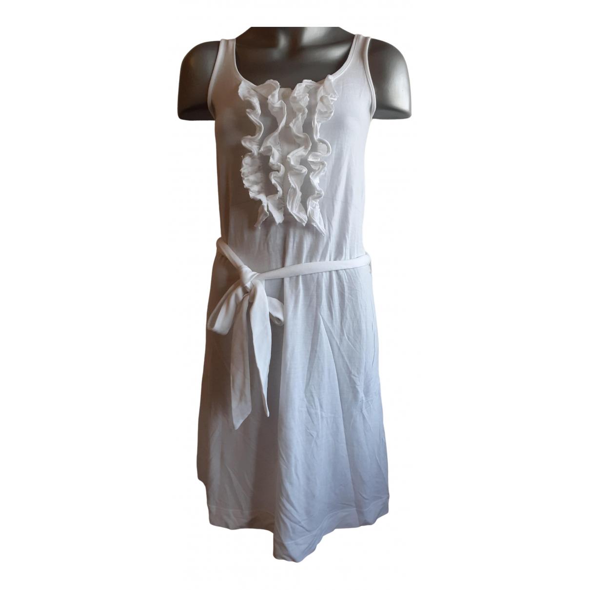 Tommy Hilfiger - Robe   pour femme en coton - elasthane - blanc