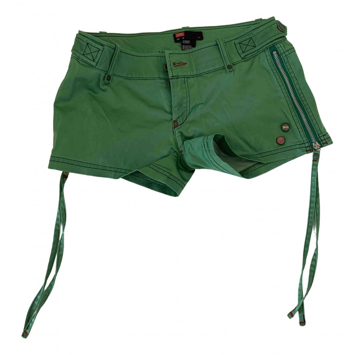 Diesel \N Shorts in  Gruen Baumwolle