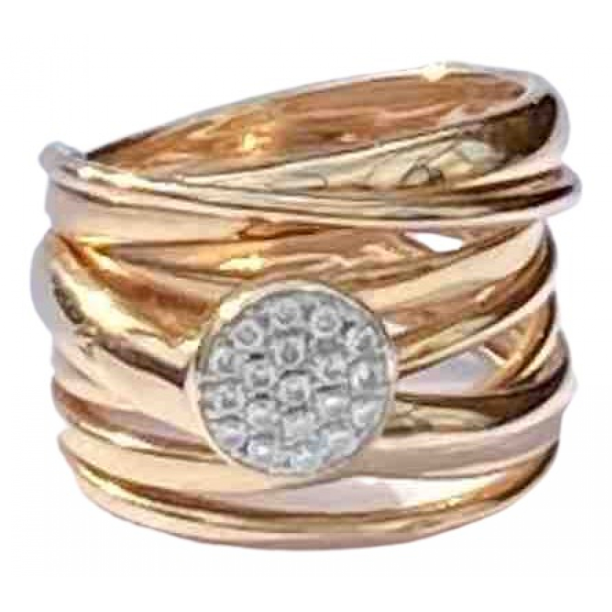 Non Signé / Unsigned N Gold Pink gold ring for Women 54 MM