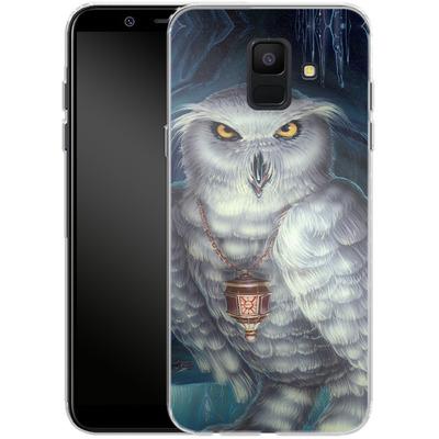 Samsung Galaxy A6 Silikon Handyhuelle - Ed Beard Jr - Wizard Messenger Owl von TATE and CO