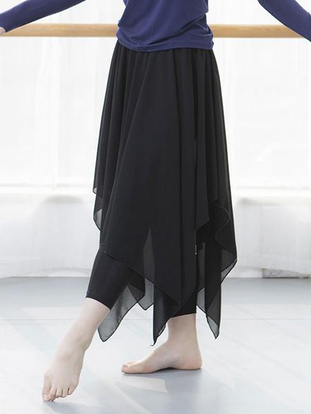 Milanoo Women Dance Wears Pant Ruffle Irregular Modal Skinny Leg Pants Dancing Costumes Halloween