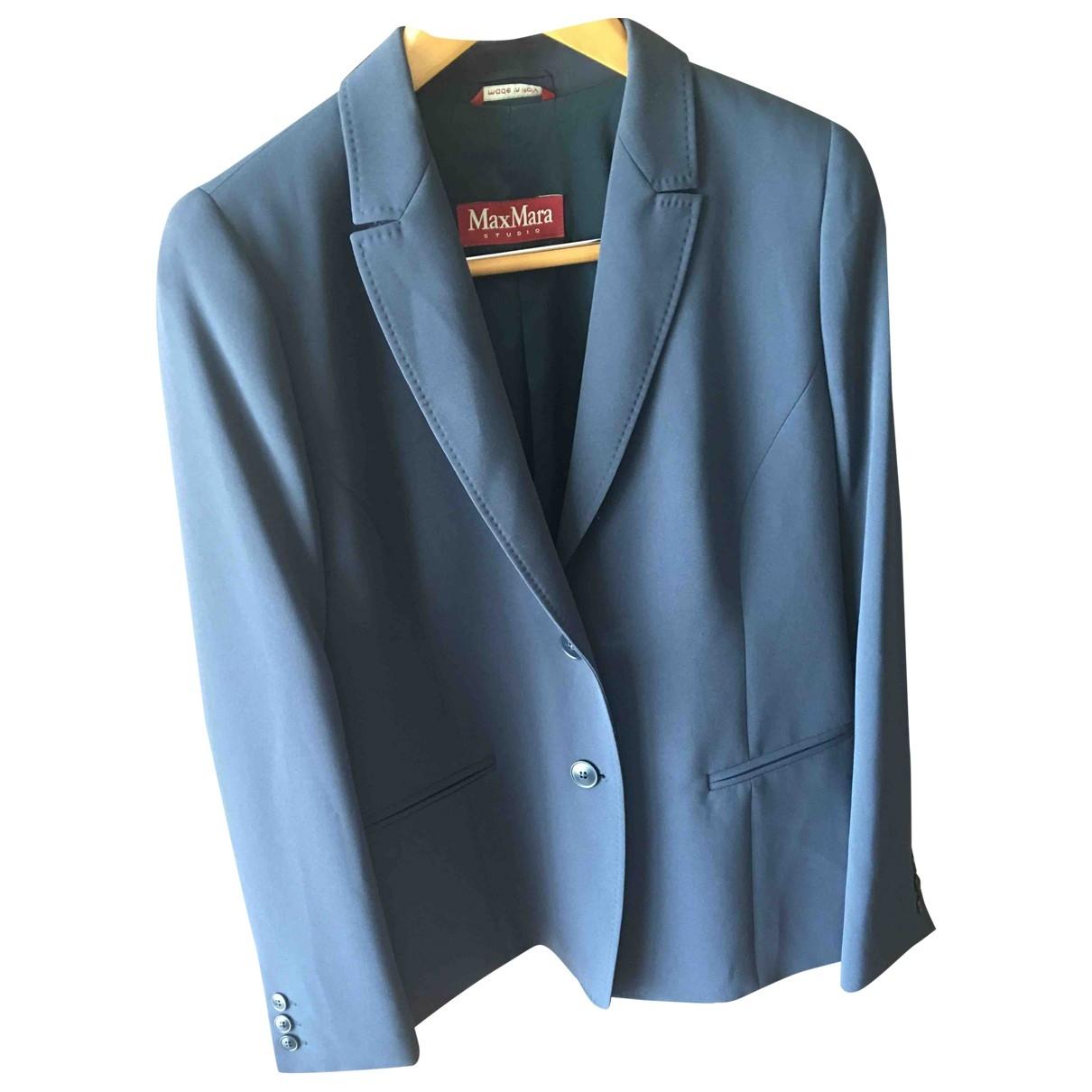 Max Mara \N Blue jacket for Women 46 FR