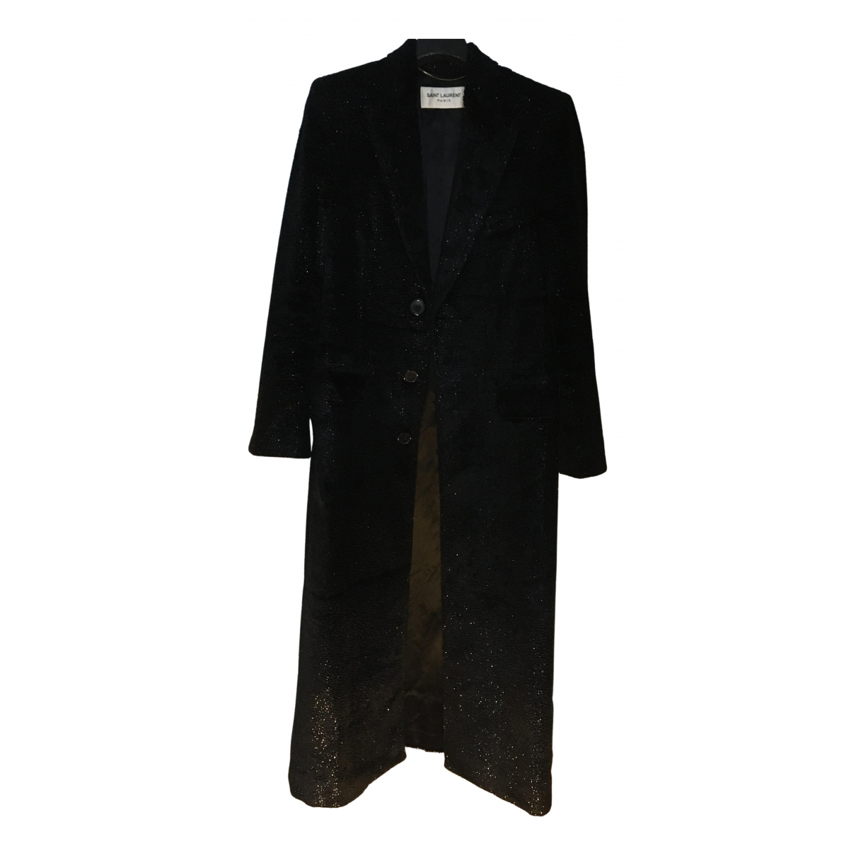 Saint Laurent N Blue Velvet coat for Women 36 FR