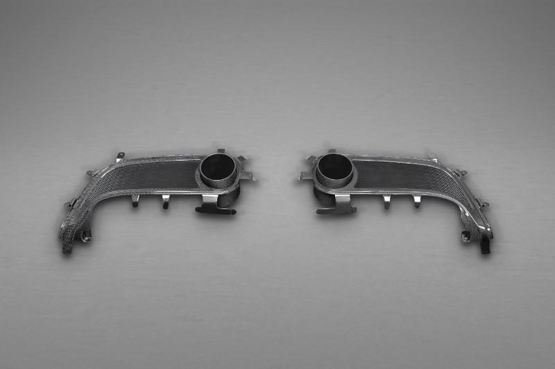 Capristo Exhaust 03FE08710028LM Matte End Pipe Shells Ferrari 488 GTB | GTS 15-20