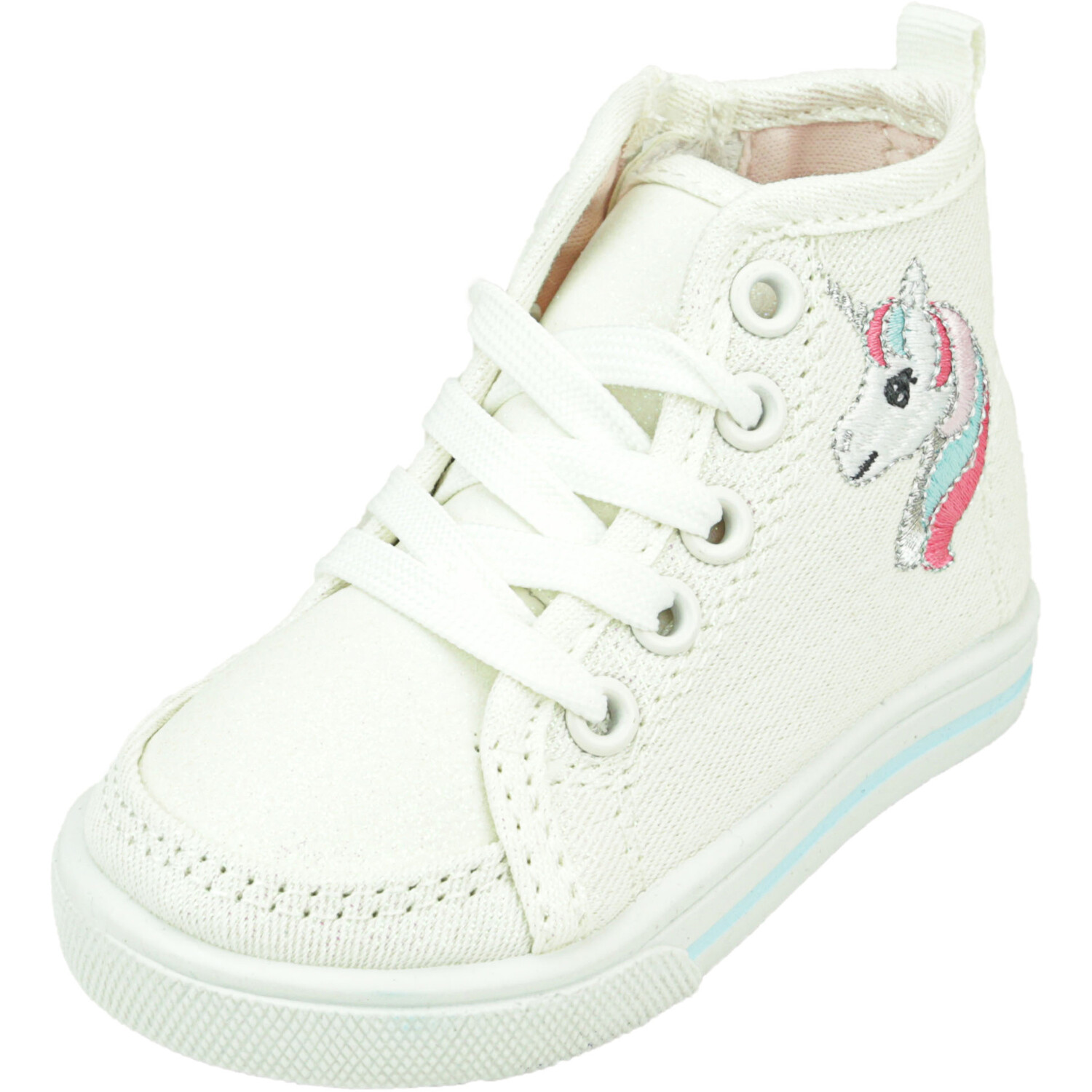 Carter's Ginger6 White High-Top Fabric Sneaker - 4M
