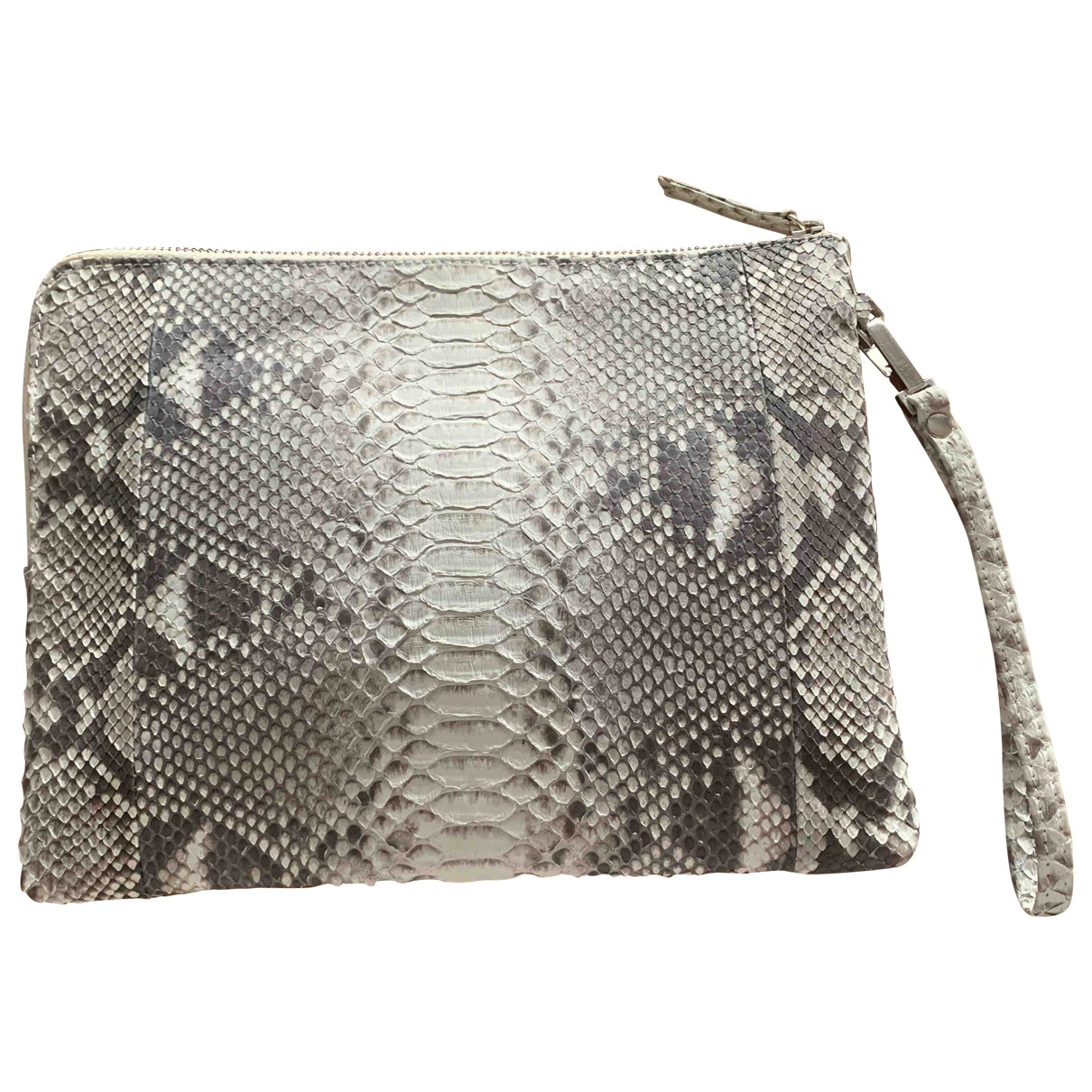 Non Signé / Unsigned \N Python handbag for Women \N