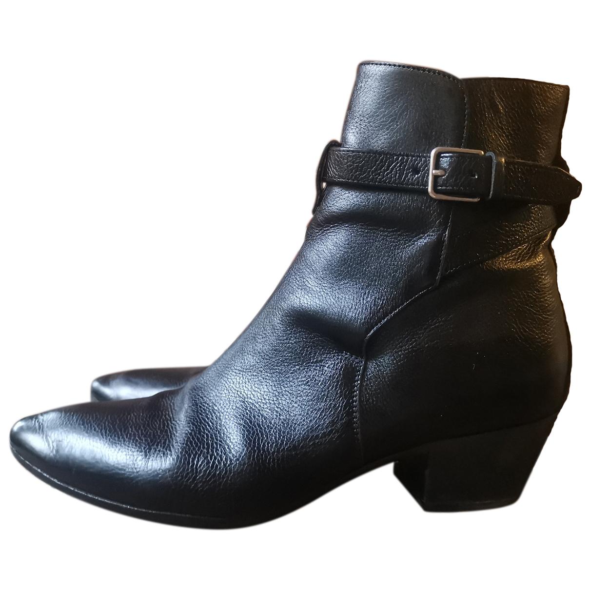 Saint Laurent - Boots West Jodhpur pour femme en cuir - noir