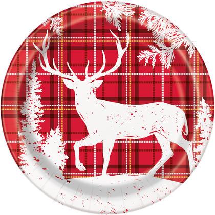 Plaid Deer Christmas Round 9
