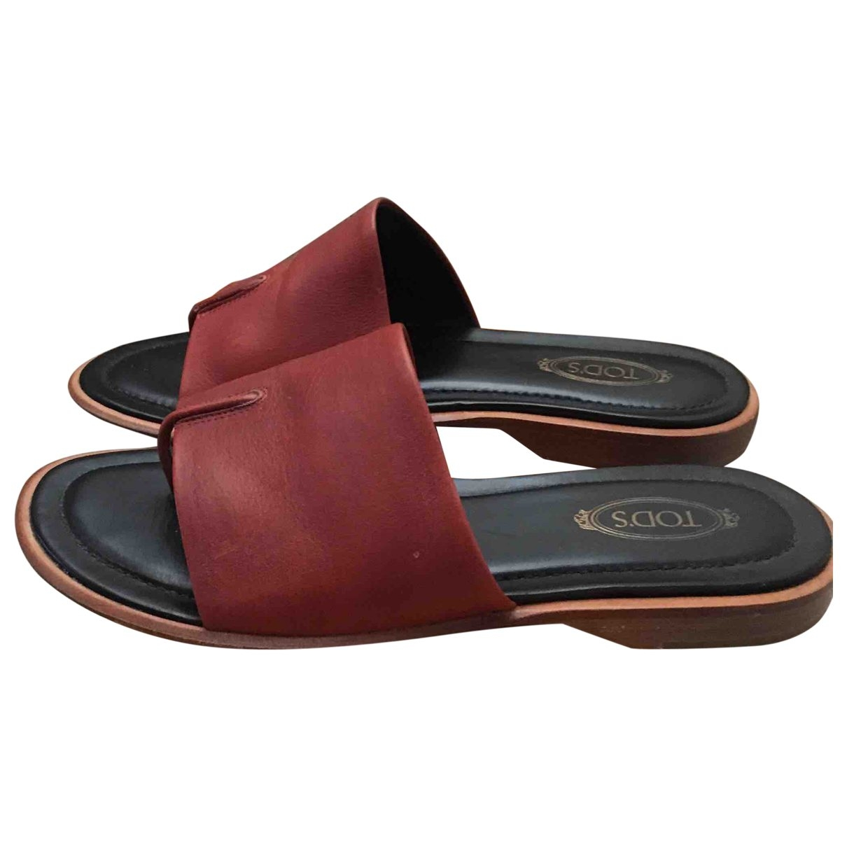 Tod's \N Leather Sandals for Women 38 EU