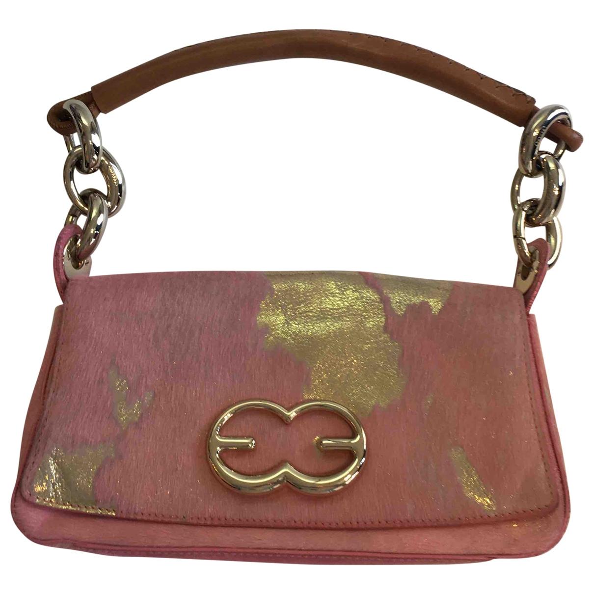 Escada Heart bag Handtasche in  Rosa Leder