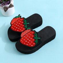 Girls Strawberry Graphic Slides
