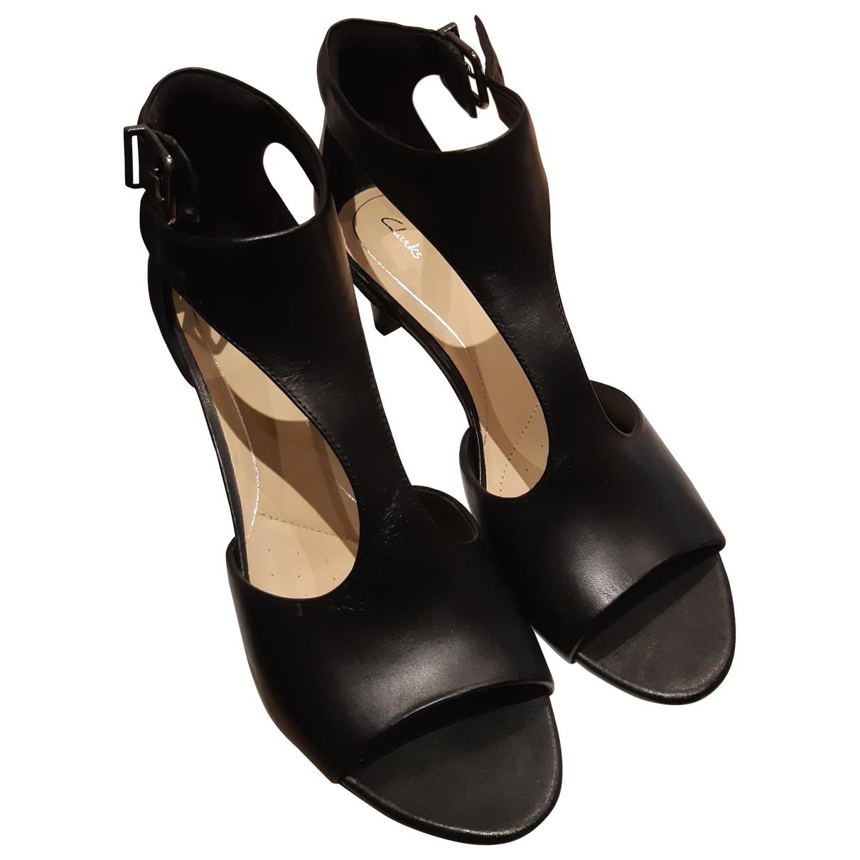 Clarks \N Sandalen in  Schwarz Leder