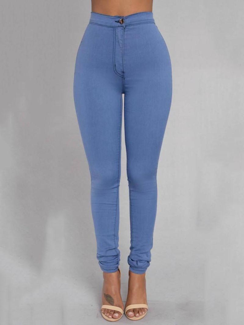 Ericdress Pocket Plain High-Waist Skinny Women's Leggings Pants