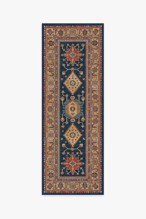 Washable Rug Cover | Cambria Sapphire Rug | Stain-Resistant | Ruggable | 2.5'x7'