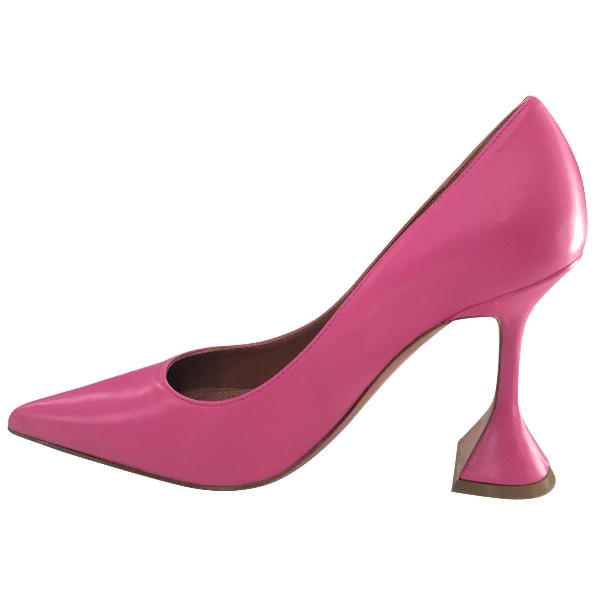 Amina Muaddi - Escarpins Holli pour femme en cuir - rose
