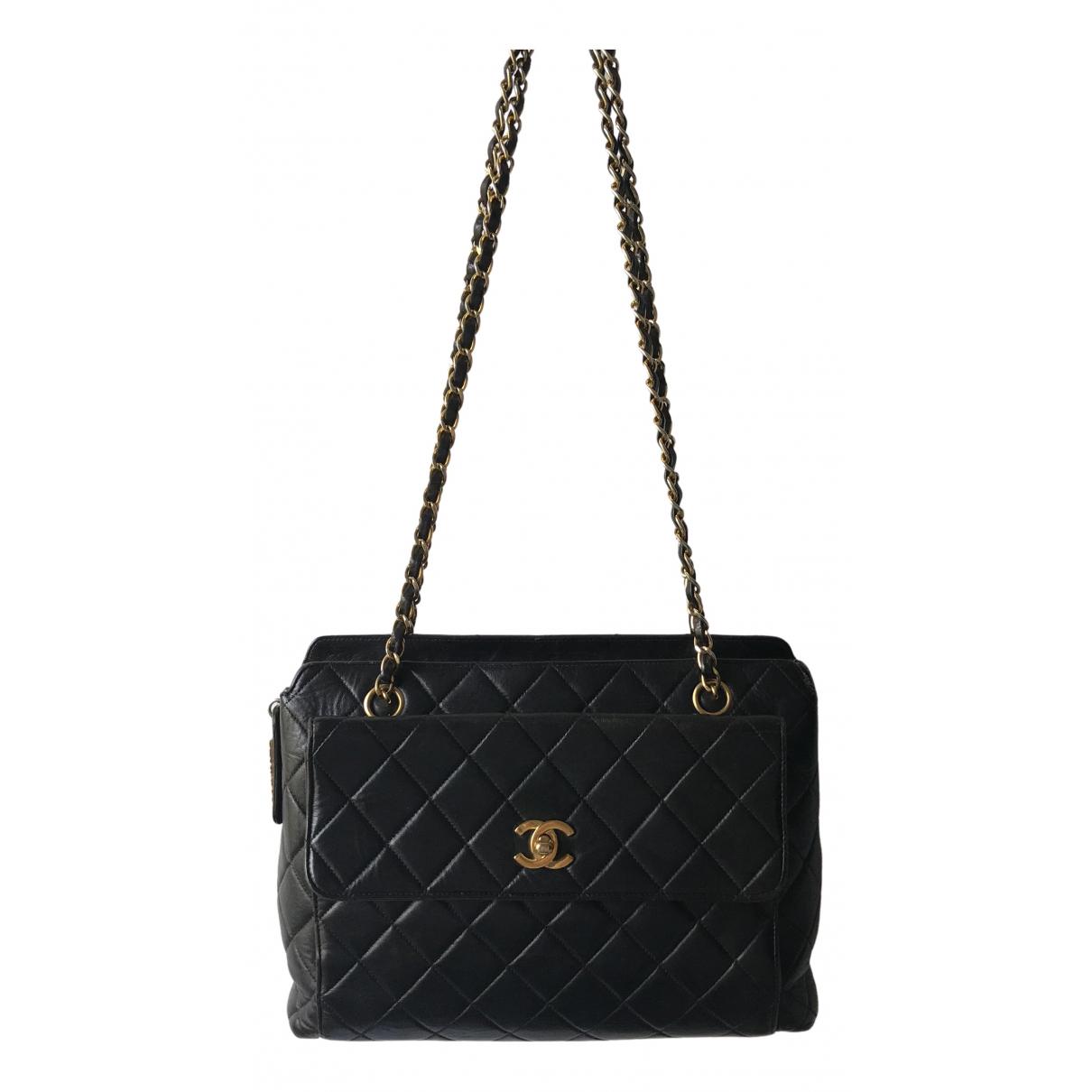 Chanel Camera Black Leather handbag for Women \N