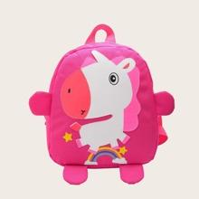 Mochila de niñas con patron de unicornio de dibujos animados