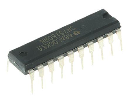 Texas Instruments SN75160BN, Line Transceiver, IEEE-488 8-TX 8-RX 8-TRX, 5 V, 20-Pin PDIP (20)