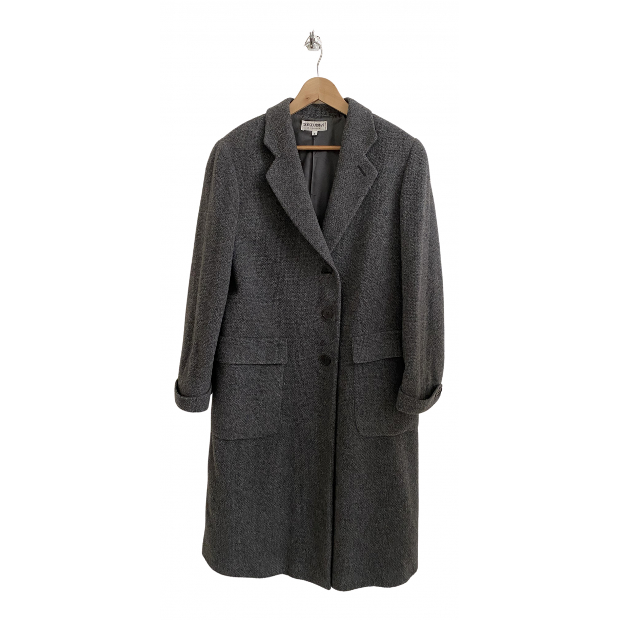 Giorgio Armani - Manteau   pour femme en laine - anthracite