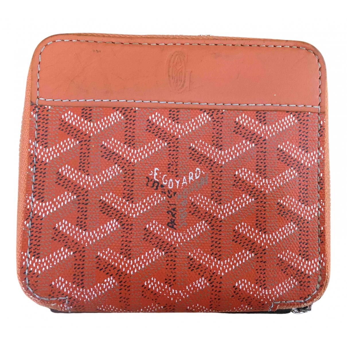 Goyard - Portefeuille   pour femme en toile - orange