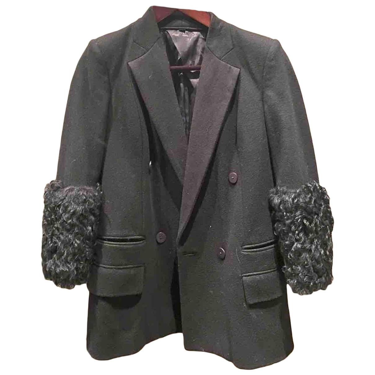Karl Lagerfeld N Black Leather jacket for Women 38 FR