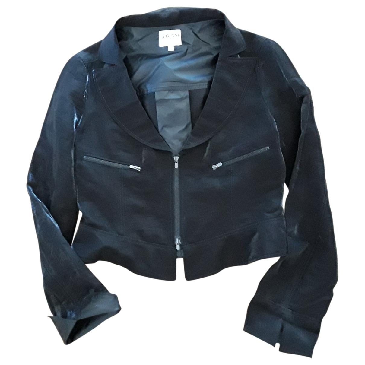 Armani Collezioni \N Black Linen jacket for Women 42 IT