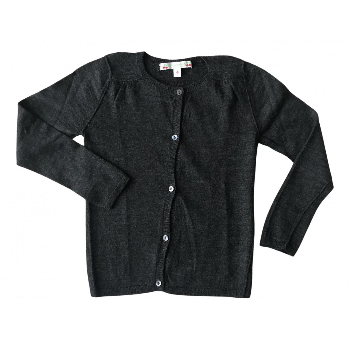 Bonpoint - Pull   pour enfant en laine - anthracite
