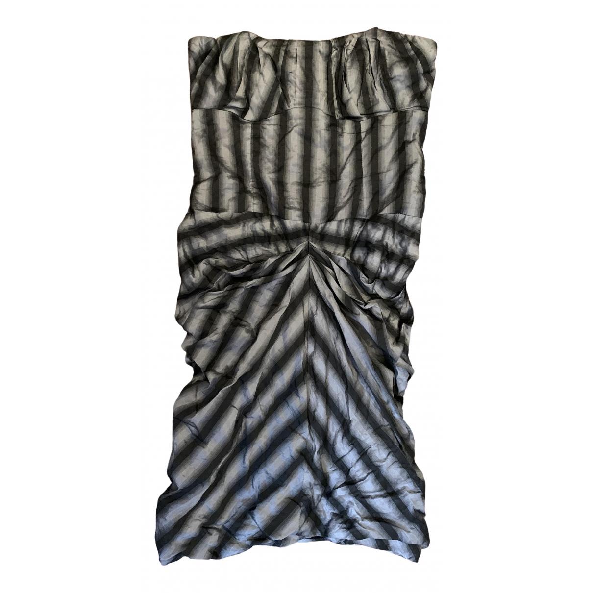 Nicole Miller \N Kleid in  Metallic Polyester