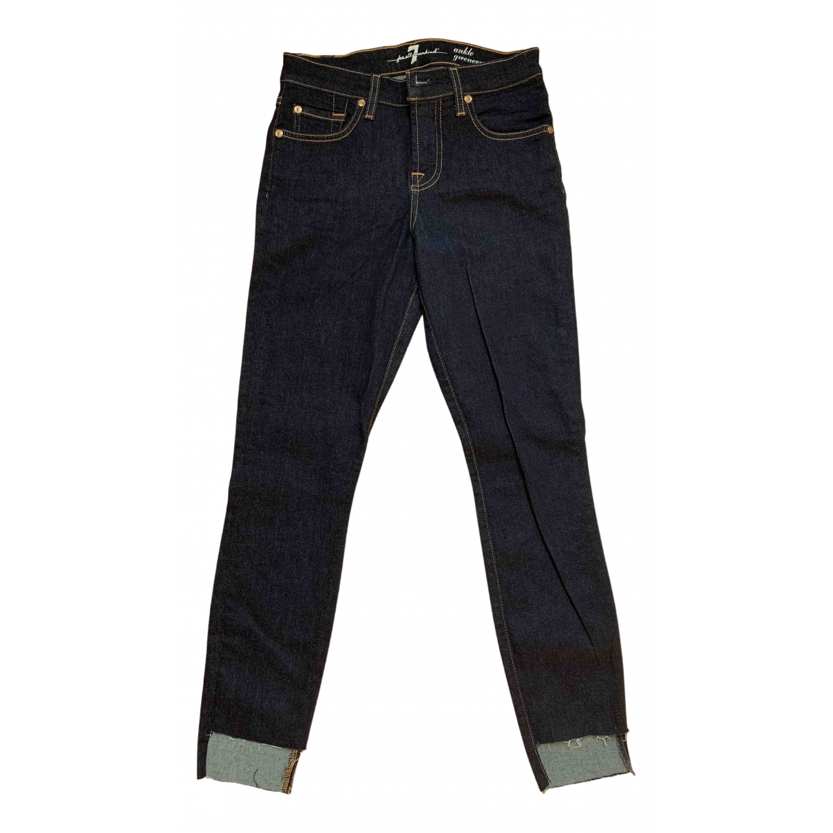 7 For All Mankind N Blue Cotton Jeans for Women 26 US