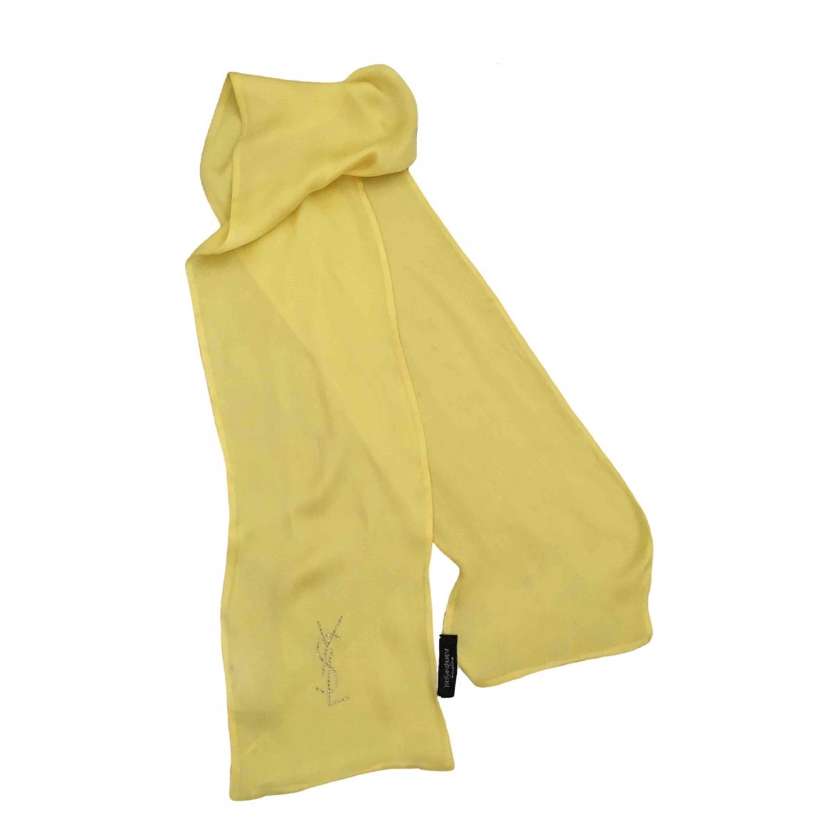Yves Saint Laurent \N Yellow Silk scarf for Women \N