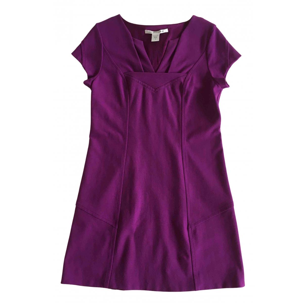 Diane Von Furstenberg \N Kleid in  Lila Viskose