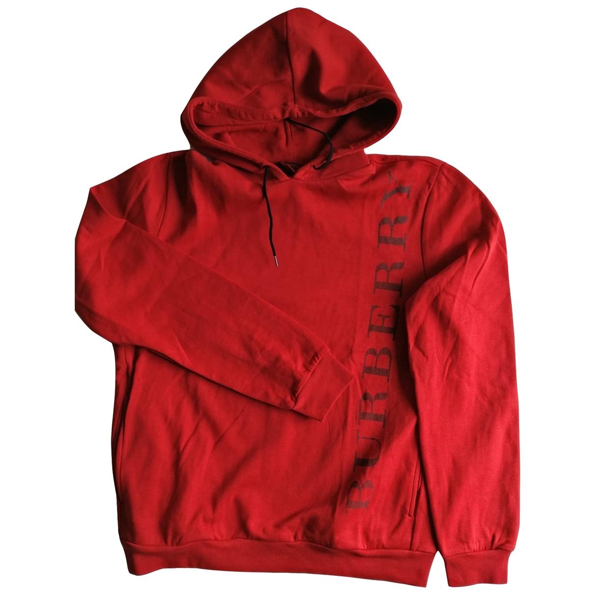 Burberry \N Pullover.Westen.Sweatshirts  in  Rot Baumwolle