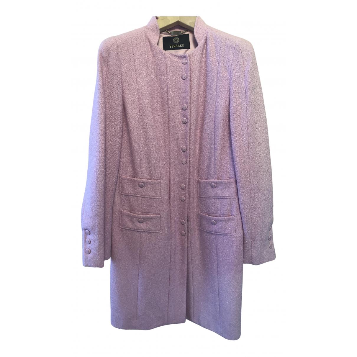Versace N Pink Cotton coat for Women 44 IT