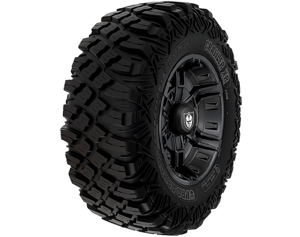 Polaris OEM 2881344 Wheel & Tire Set: Pro Armor Crawler XR & Buckle- Matte Black