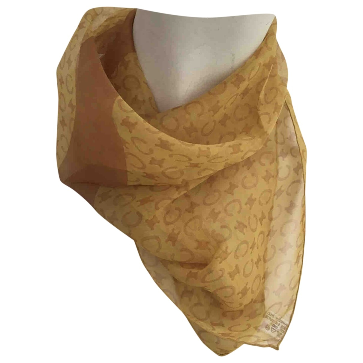 Celine \N Orange Silk Silk handkerchief for Women \N