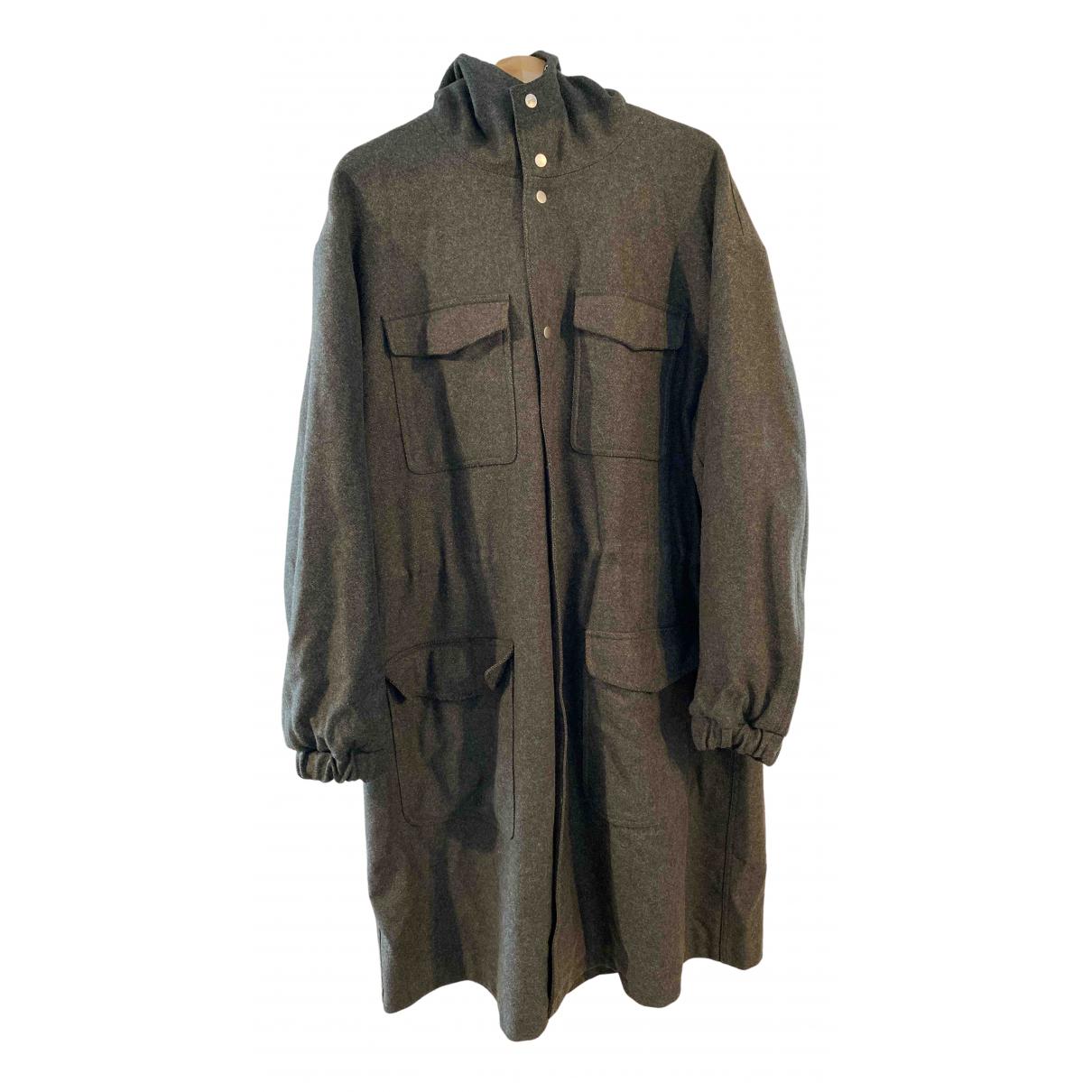 Ami - Manteau   pour homme en laine - kaki