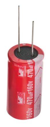 Wurth Elektronik 1μF Electrolytic Capacitor 400V dc, Through Hole - 860011373002 (25)
