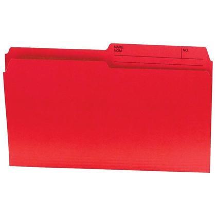 Hilroy@ Recycled Manila File Folder, 100 folders per box - Red, Legal 231480