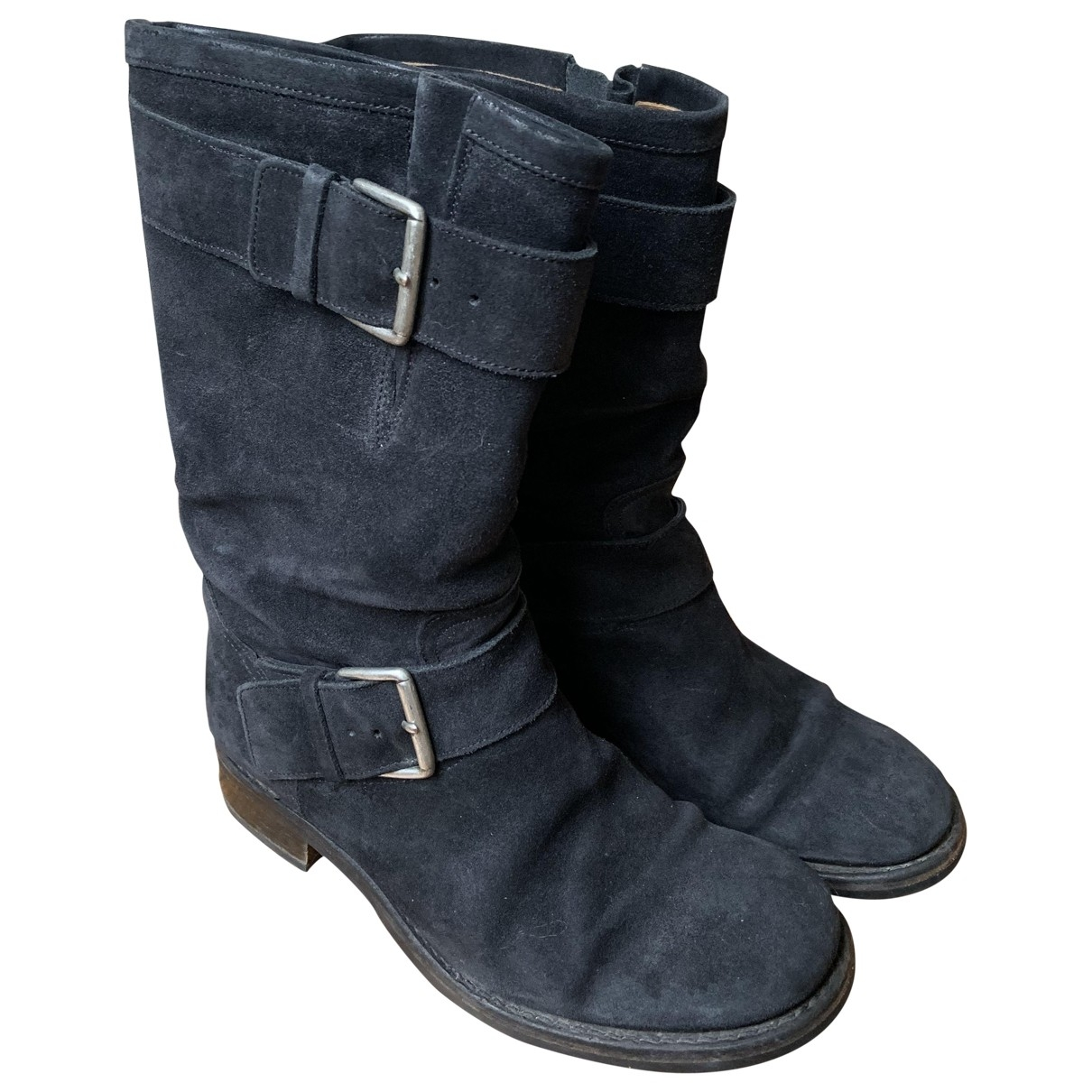 Free Lance \N Black Suede Boots for Women 38 EU