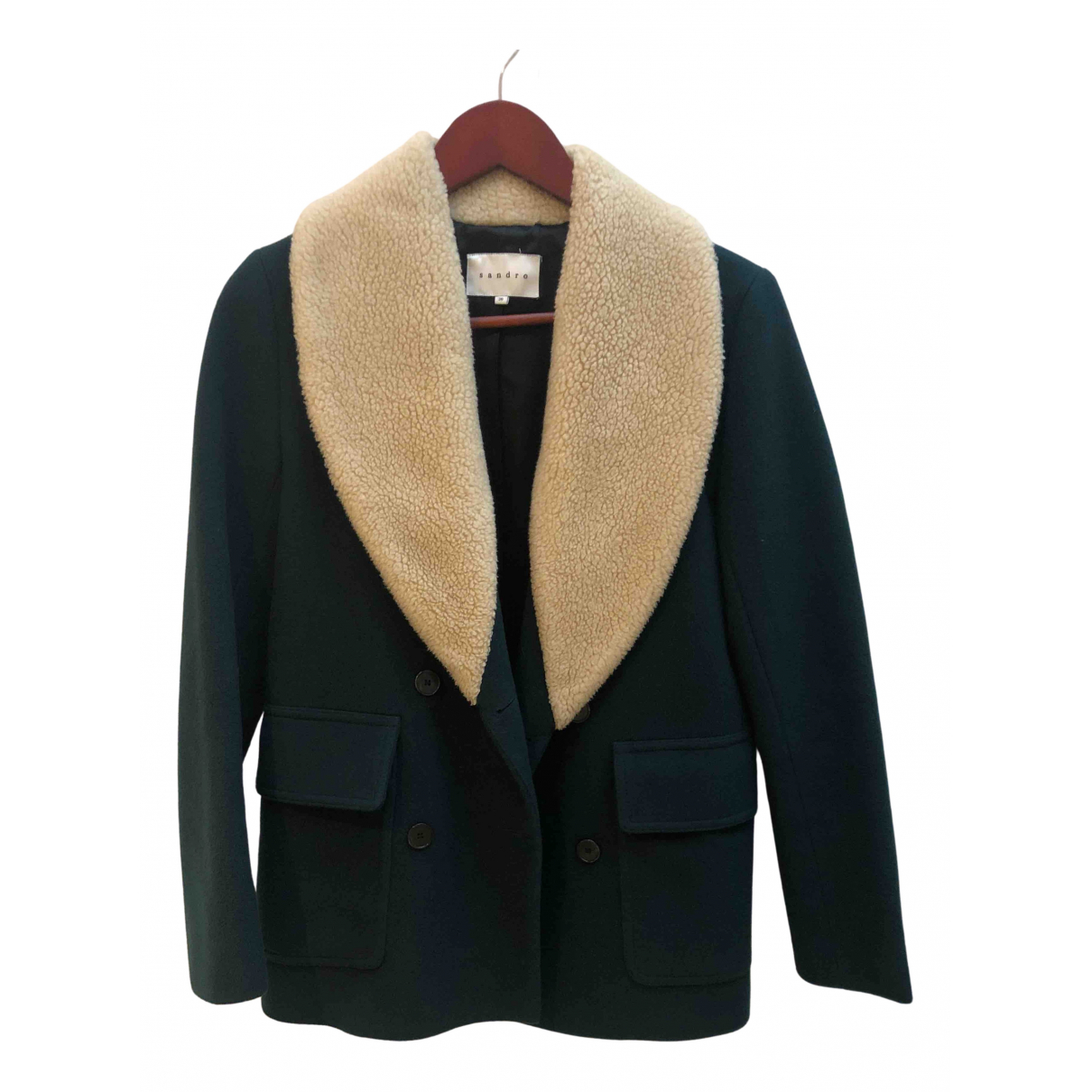 Sandro - Veste   pour femme en laine - vert