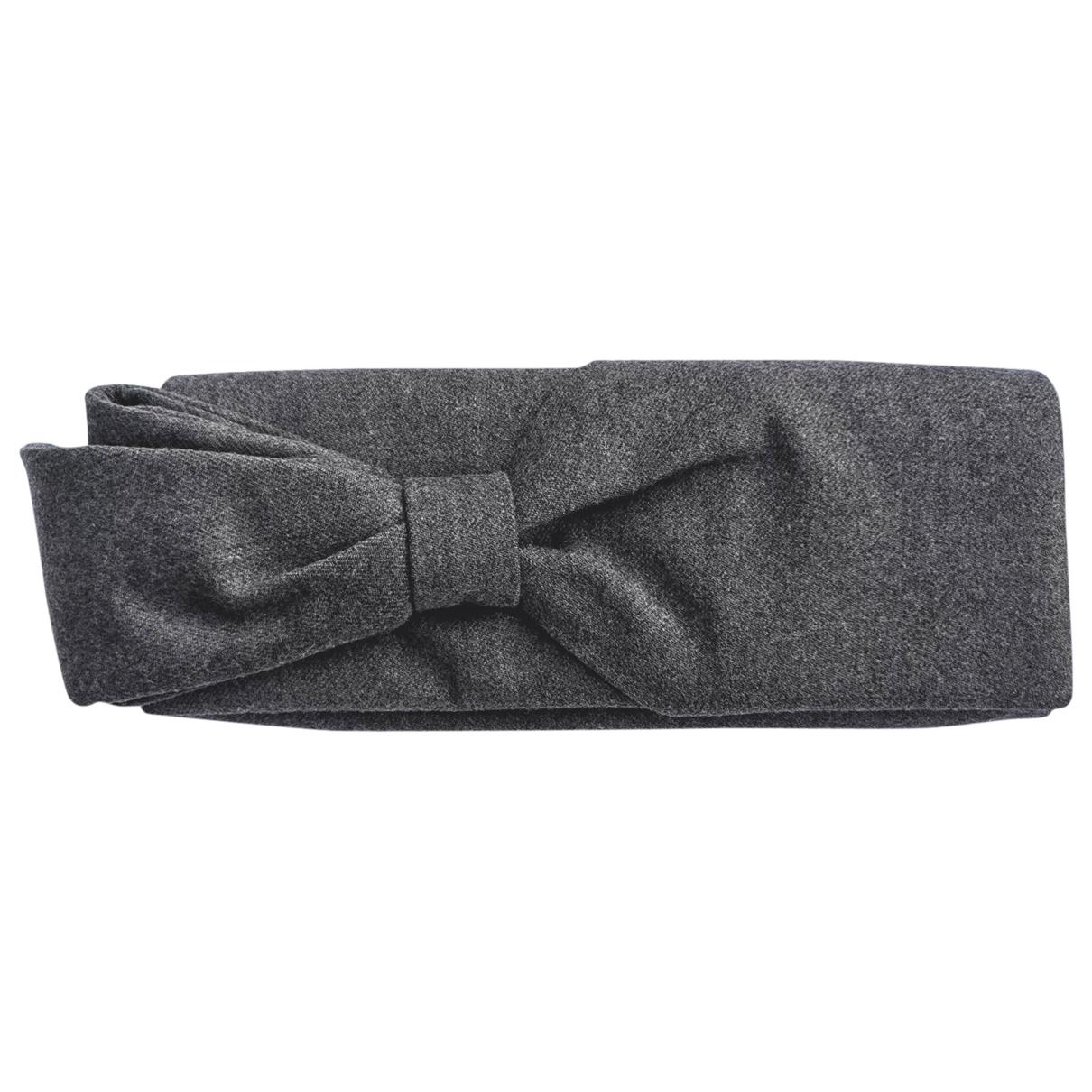 Christian Louboutin - Pochette   pour femme en laine - gris