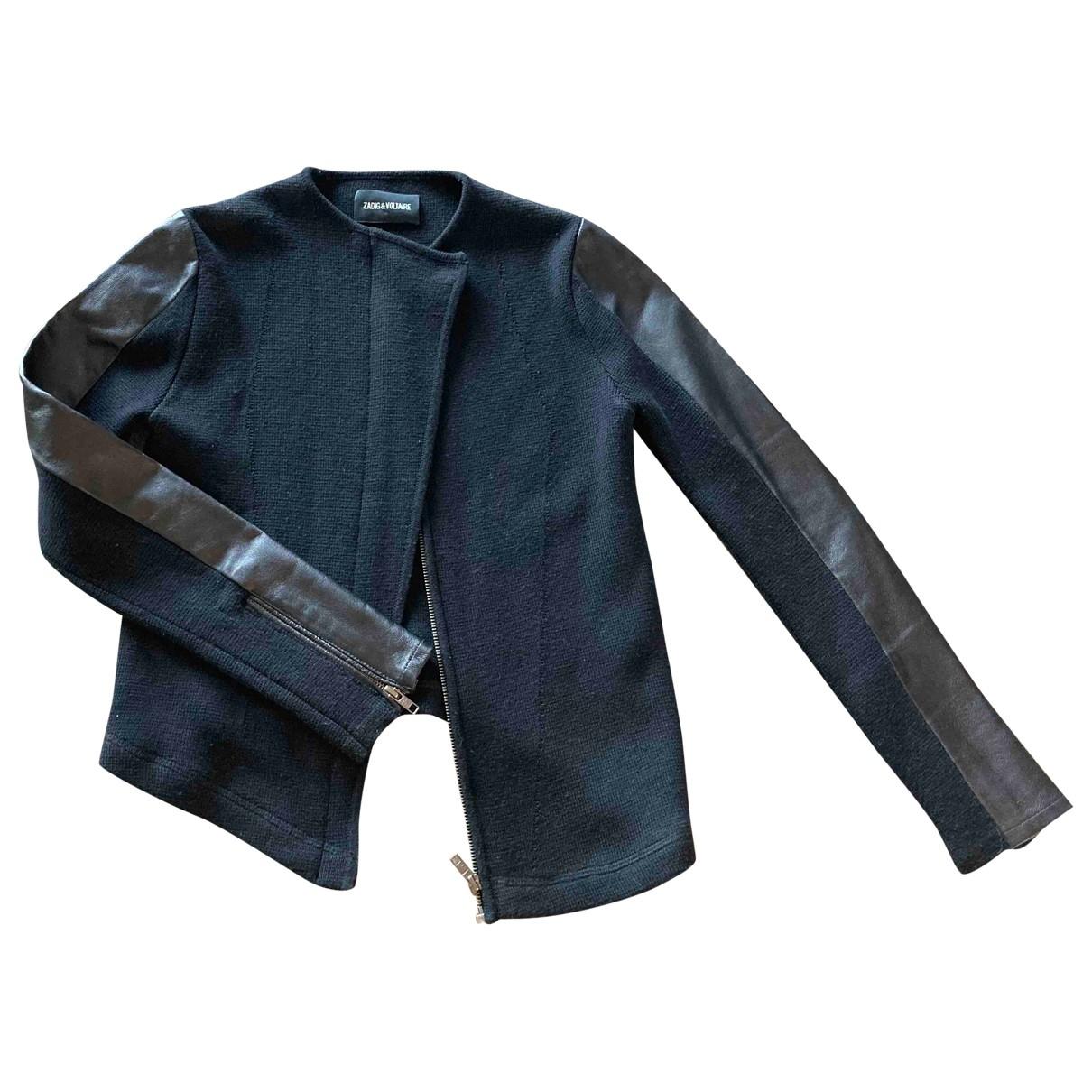 Zadig & Voltaire - Veste   pour femme en cuir - noir