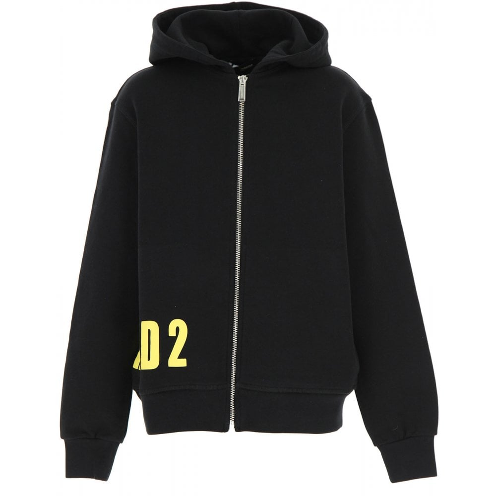 Dsquared2 Side Logo Hoodie Colour: BLACK, Size: 14 YEARS