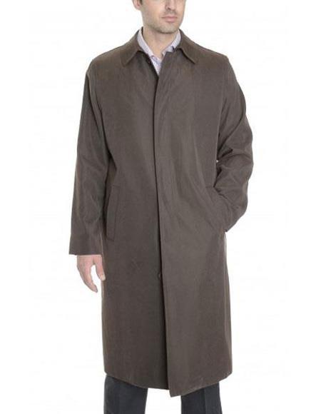 Mens Big And & Tall Trench Coat Bark Brown