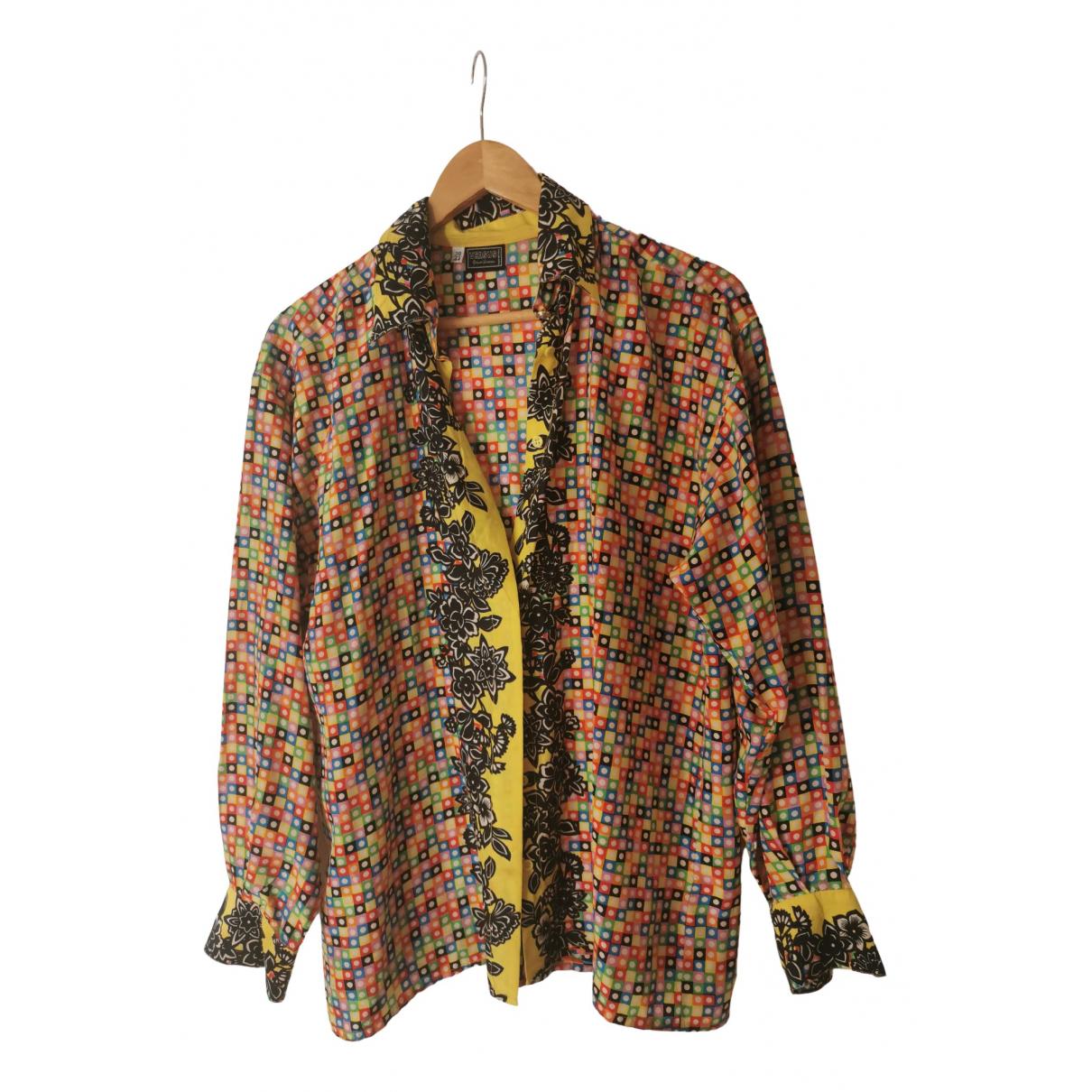 Versus - Top   pour femme en soie - multicolore