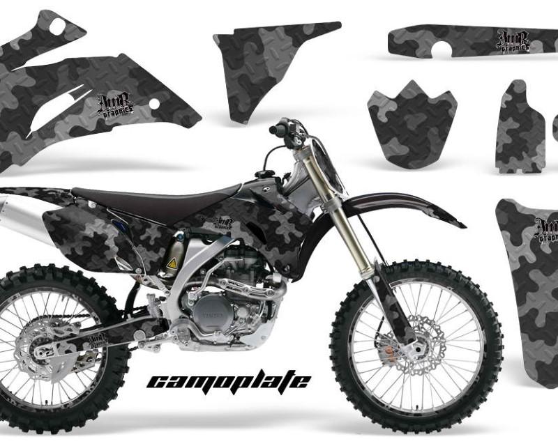 AMR Racing Graphics MX-NP-YAM-YZ250F-YZ450F-06-09-CP K Kit Decal Wrap + # Plates For Yamaha YZ250F YZ450F 2006-2009áCAMOPLATE BLACK